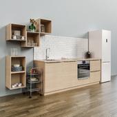 Kitchen IKEA method with facade ASKERSUND
