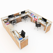 Office Cubicle With Seperator Walls - 2