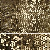 3D panels GOLDEN Hexagon