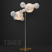 Giopato & Coombes floor lamp BOLLE 12 bubble FROST/GOLD