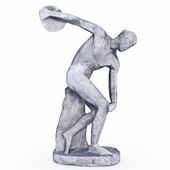 The Discobolus in style Low Poly