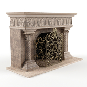 Acanthus Fireplace and Screen