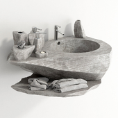Washstand from rock