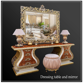 "DRESSING TABLE, MIRROR ""PASHA CAPPELLETTI"""