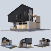 Modern residential house with a swimming pool