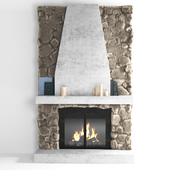 Fireplace made of natural stone
