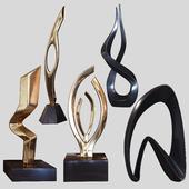 Sculptures set by Burlini and Kagan