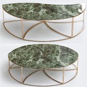 Wooden coffee table LEAVES by Draenert