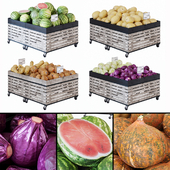 Racks for vegetables / fruits
