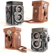 Camera with Rolleiflex cover