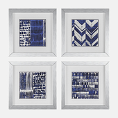 Indigo Batik Framed Graphic Art Set by Propac Images
