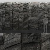 mountain stone wal