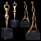Burlini Alfredo woman sculptures