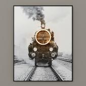 Steam Train Led Art RH