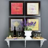 Shelf with decor