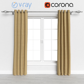 Yellow Curtains with Cornice