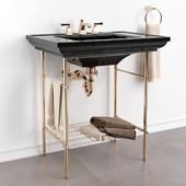 "KOHLER ""Memoirs"" Table legs. Washbasin on the table."
