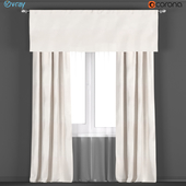 Curtains from RH Restoration hardware in color WARM WHITE + tulle.
