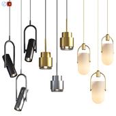 Three Pendant Hanging Light Set 01