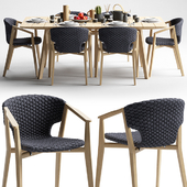 Ethimo Knit Dining Armchair and Dining Table