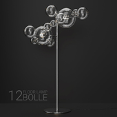Giopato & Coombes floor lamp BOLLE 12 bubble Clear/silver