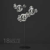 Giopato & Coombes floor lamp BOLLE 18 bubble Clear/black