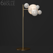 Giopato & Coombes floor lamp BOLLE 6 bubble FROST/GOLD