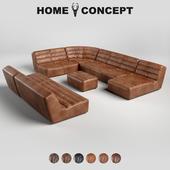 OM Cheby's corner modular sofa, Shabby Sectional Group