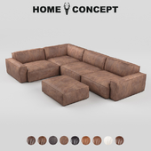 OM Nirvana's large corner modular sofa, Nirvana Sectional Group Large