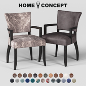 OM Dining chair Mimi with armrests, black legs; Mimi Dining Chair With Arms, Black