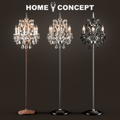 OM Floor Lamp Crystal, Crystal Floor Lamp