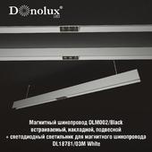 Luminaire for magnetic busbar trunking DL18781_03M White