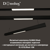 Luminaire for magnetic busbar trunking DL18785_Black 10W