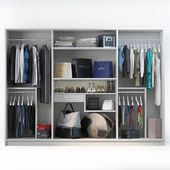 Set of clothes, shoes and accessories for the cabinet mix 3