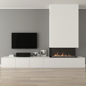 Fireplace with decor 31
