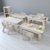 Furniture series CLIC from Playply with filling