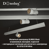 Luminaire DL18782_01M for magnetic busbar trunking