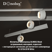 Luminaire DL18784_01M for magnetic busbar trunking