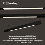 Luminaire DL18785_Black 20W for magnetic busbar trunking