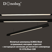 Luminaire DL18785_Black 30W for magnetic busbar trunking