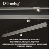 Luminaire DL18788_01M for magnetic busbar trunking