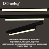 Luminaire DL18787_Black 20W for magnetic busbar trunking