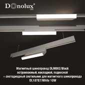 Luminaire DL18787_White 10W for magnetic busbar trunking