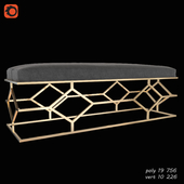 Bench in gold color
