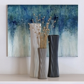 Brimfield & May Contemporary Tapered Ceramic Vases