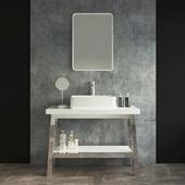 washbasin Stainless steel vanity unit