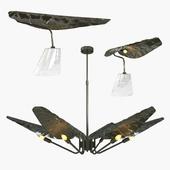 Brabbu Calla chandelier and table lamp
