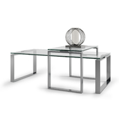 Dokos Coffee Table & Kyra Metal Hurricane