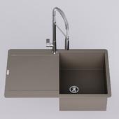 Franke Maris MRG 211-77  Sink with  faucet Franke fox pro