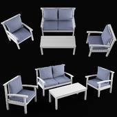 Orellana Sofa Set with Cushions